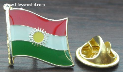 Kurdistan Country Flag Lapel Hat Cap Tie Pin Badge / Brooch - Kurds Kurdish New